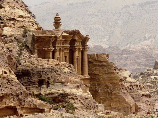 Horizontal Print featuring the photograph Al-deir (monastery) by Cute Kitten Images