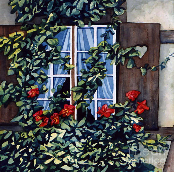 Alsace Print featuring the painting Alsace Window by Scott Nelson