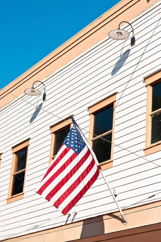 4th Print featuring the photograph American Flag by Tom Gowanlock
