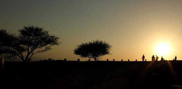 Silhouette Print featuring the photograph And The Day Ends Quietly.. by Saurabh Shenai