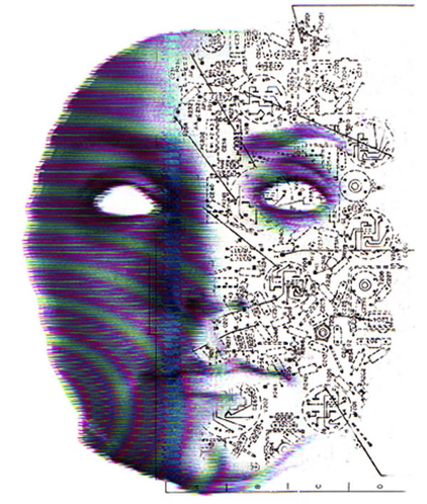 Head Print featuring the photograph Artificial Intelligence by Neal Grundy