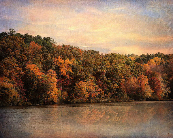 Autumn Print featuring the photograph Autumn Reflections 1 by Jai Johnson