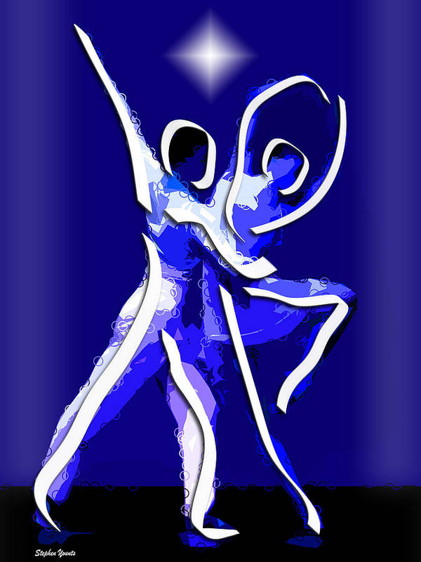 Ballet Print featuring the digital art Ballet by Stephen Younts