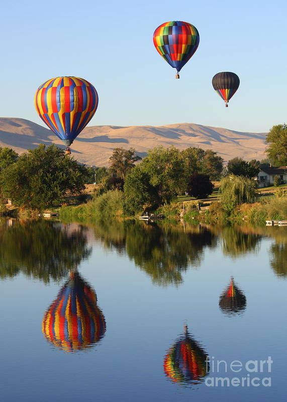 Prosser Print featuring the photograph Balloons Over Horse Heaven by Carol Groenen