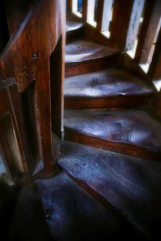 Bell Tower Steps Print featuring the photograph Bell Tower Steps II by John Bartosik