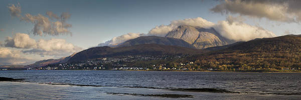 Ben Print featuring the photograph Ben Nevis And Loch Linnhe Panorama by Gary Eason