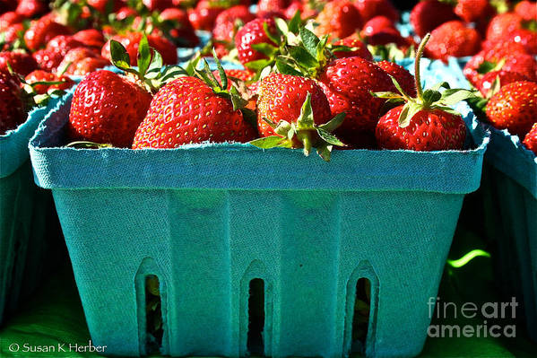 Food Print featuring the photograph Blue Box by Susan Herber