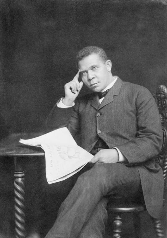 History Print featuring the photograph Booker T. Washington 1856-1915, African by Everett