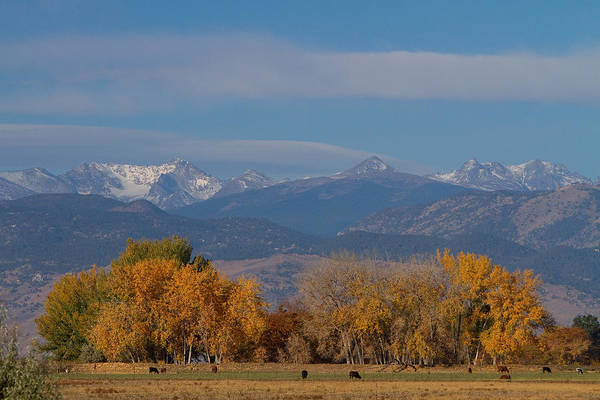 'front Range' Print featuring the photograph Boulder County Colorado Continental Divide Autumn View by James BO Insogna