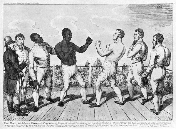 1811 Print featuring the photograph Boxing: Cribb V. Molineaux by Granger