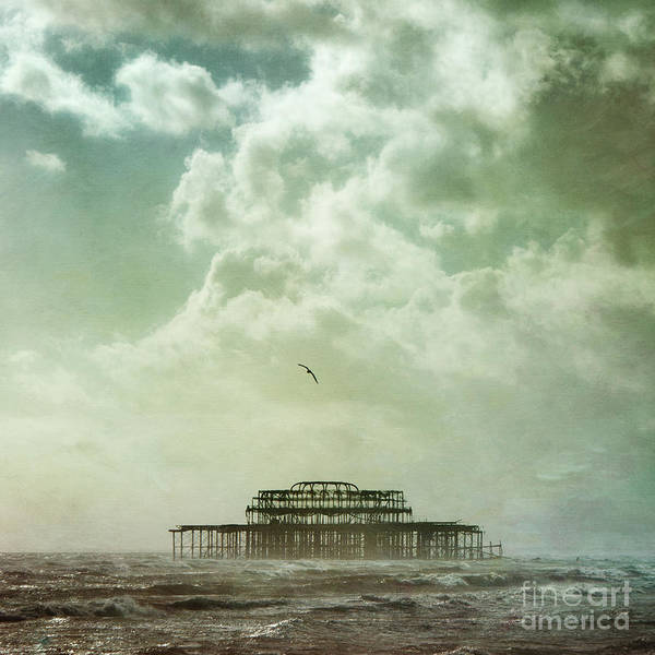 Brighton West Pier Print featuring the photograph Brighton Seascape by Paul Grand