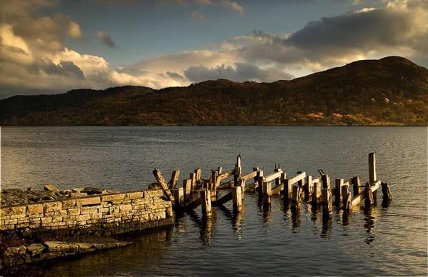 Beauty In Nature Print featuring the photograph Broken Dock, Loch Sunart, Scotland by John Short