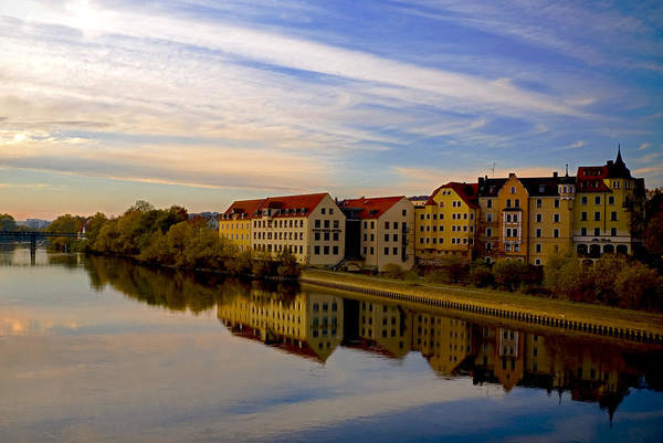 Danube River Germany Print featuring the photograph Calm As Glass by Anthony Citro