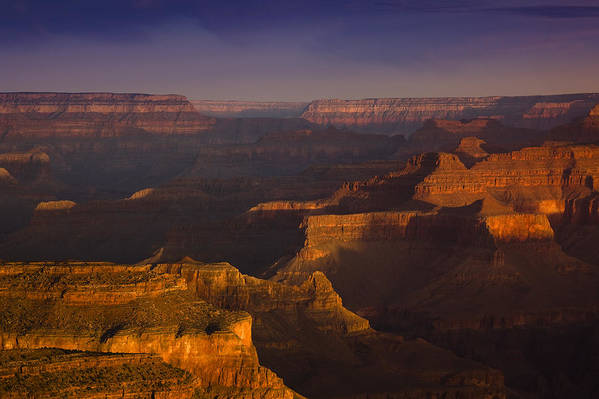 National Park Print featuring the photograph Canyon Shadows by Andrew Soundarajan