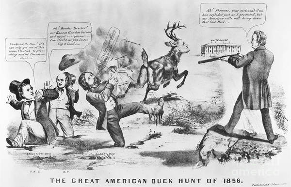 1856 Print featuring the photograph Cartoon: Election Of 1856 by Granger