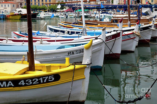 Colorful Print featuring the photograph Cassis Boats by Brian Jannsen