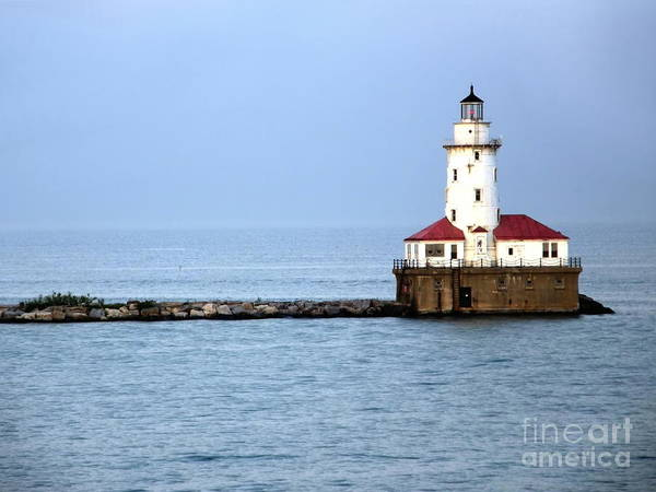 Chicago Print featuring the photograph Chicago Lighthouse by Sophie Vigneault