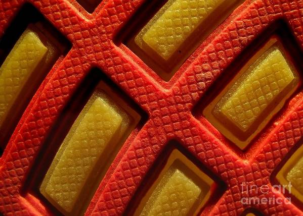 Closeup Print featuring the photograph Closeup View Of Sneaker Sole by Yali Shi