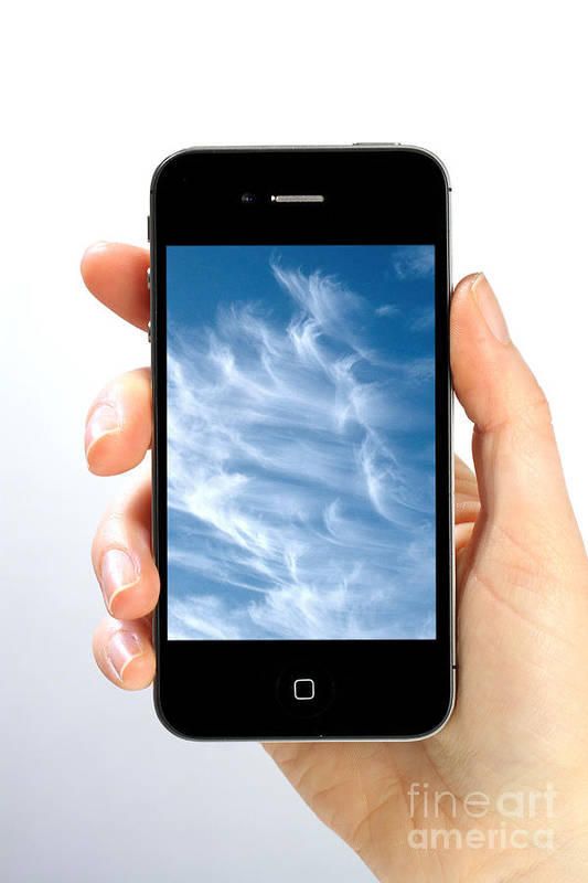 App Print featuring the photograph Cloud Computing by Photo Researchers
