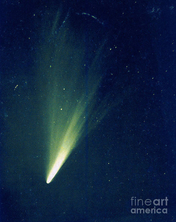 Science Print featuring the photograph Comet West, 1976 by Science Source