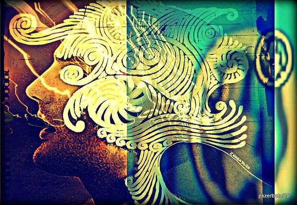 Life Print featuring the digital art Confused Meanderings by Paulo Zerbato