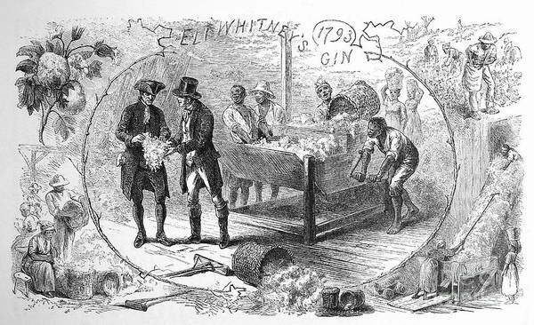 1793 Print featuring the photograph Cotton Gin, 1793 by Granger