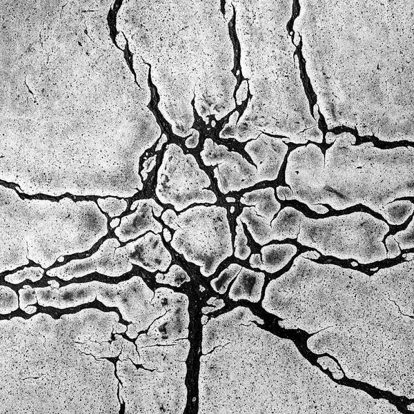 Square Print featuring the photograph Cracks by Gerard Hermand