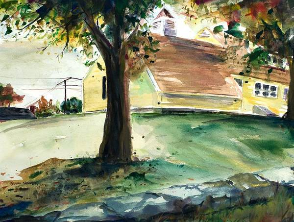 Yard Print featuring the painting Cupola by Scott Nelson