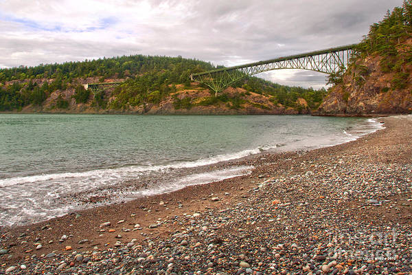 Deception Pass In Washington State Print featuring the photograph Deception Pass Washington by Artist and Photographer Laura Wrede