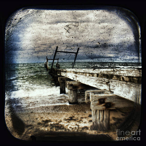 The Old Elwood Pier Print featuring the photograph Deconstruction by Andrew Paranavitana