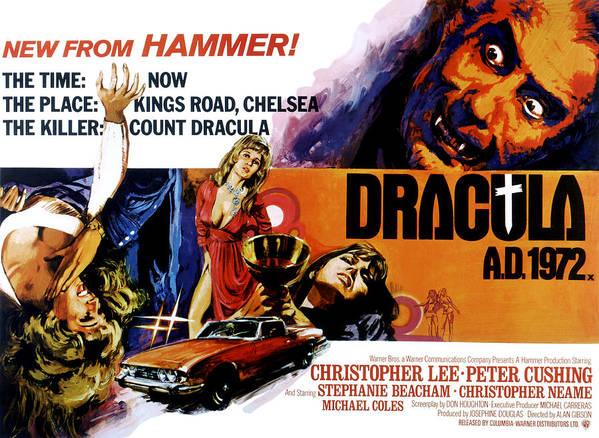 1970s Movies Print featuring the photograph Dracula A.d. 1972, Stephanie Beacham by Everett