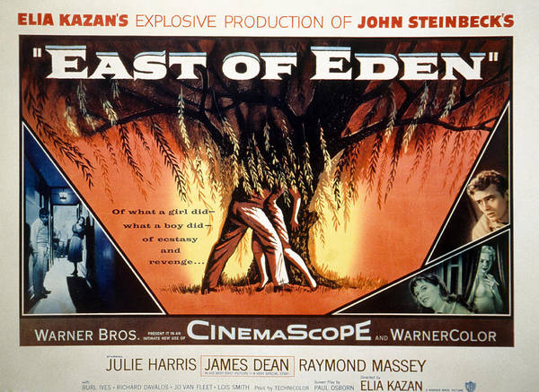 1950s Movies Print featuring the photograph East Of Eden, James Dean, Lois Smith by Everett