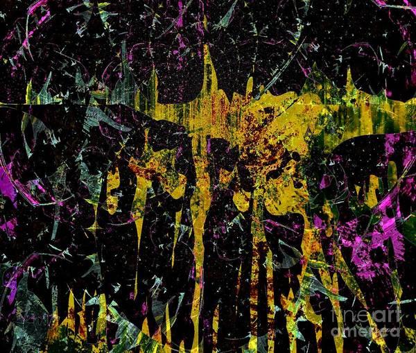 Wisdom Print featuring the mixed media Energy Dance by Fania Simon