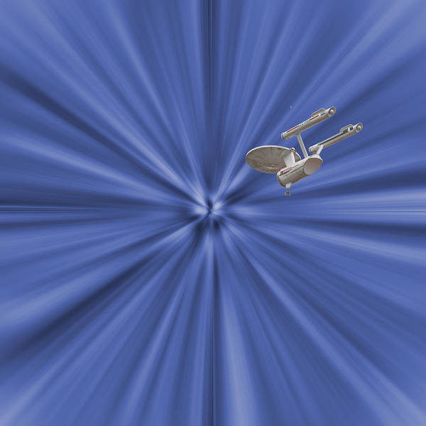Enterprise Print featuring the photograph Entering Warp Speed by Peggie Strachan