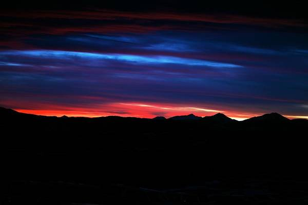 Sunset Print featuring the photograph Evil Blue Sky by Kevin Bone