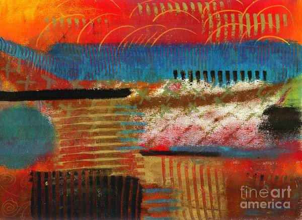 Self Discovery Print featuring the painting Finding My Way by Angela L Walker