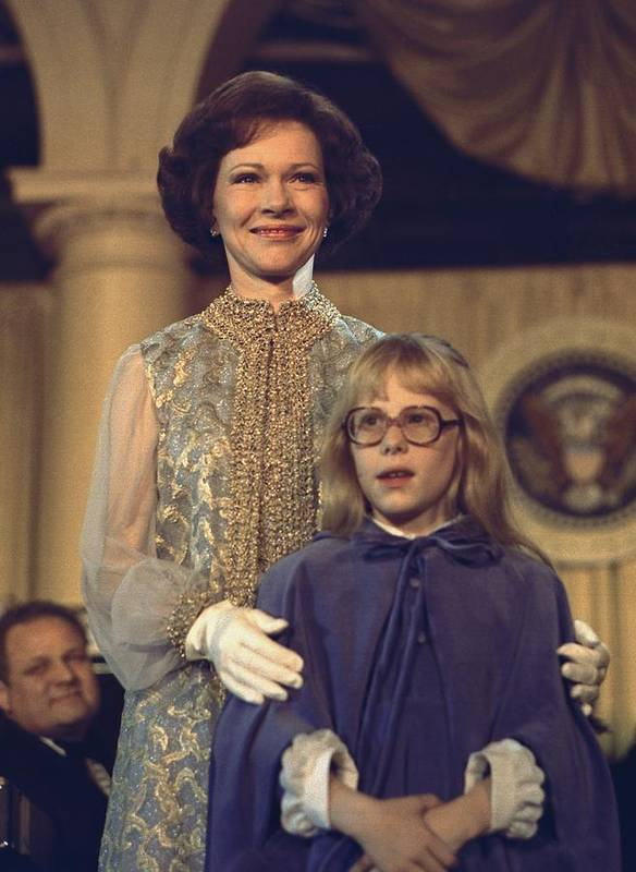 History Print featuring the photograph First Lady Rosalynn Carter And 10 Year by Everett