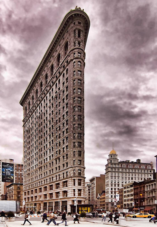 Flat Iron Building Print featuring the photograph Flat Iron Building by Michael Dorn