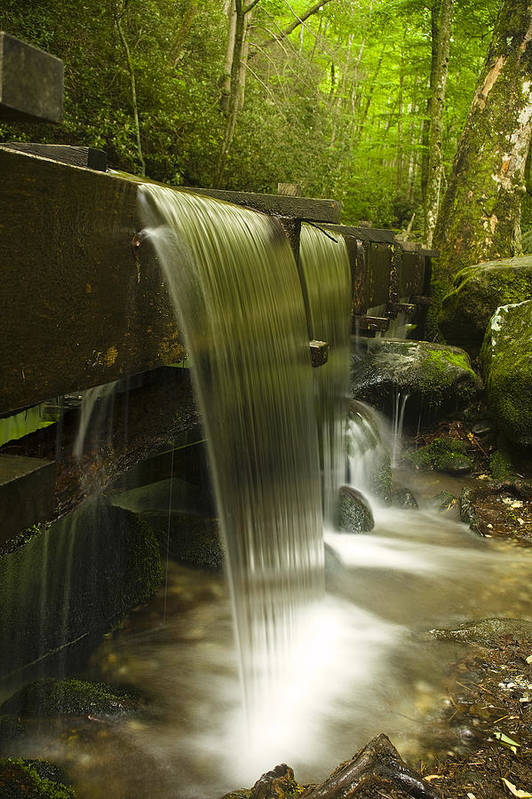 Mill Print featuring the photograph Flowing Water by Andrew Soundarajan