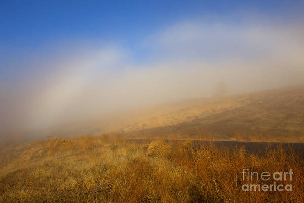 Fog Bow Print featuring the photograph Fog Bow At Lookout Point by Mike Dawson