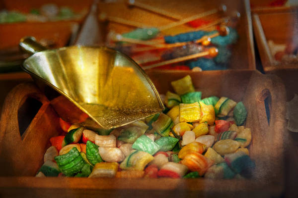 Chef Print featuring the photograph Food - Candy - One Scoop Of Candy Please by Mike Savad