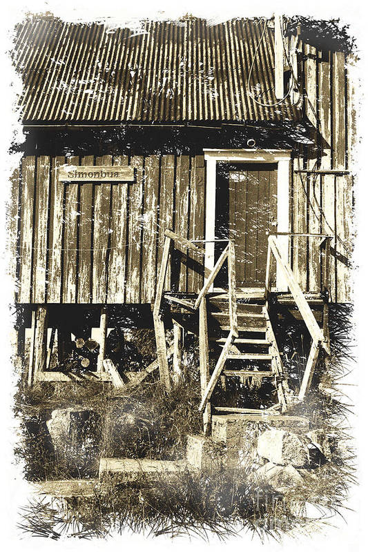 Heiko Print featuring the photograph Forgotten Wooden House by Heiko Koehrer-Wagner