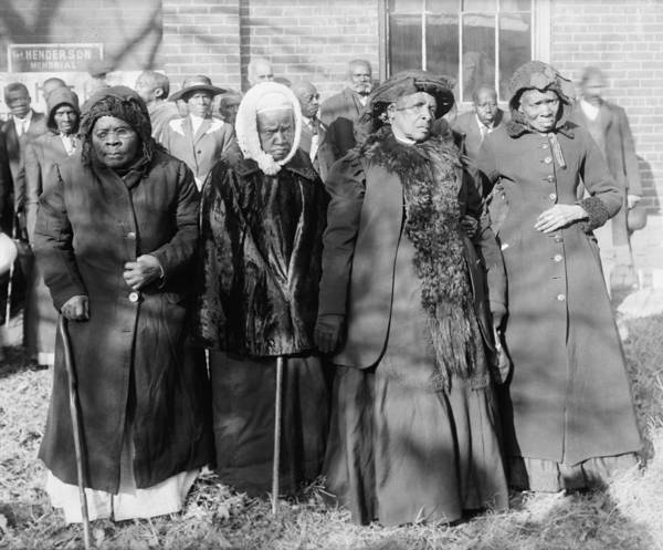 History Print featuring the photograph Four Elderly African American Women by Everett