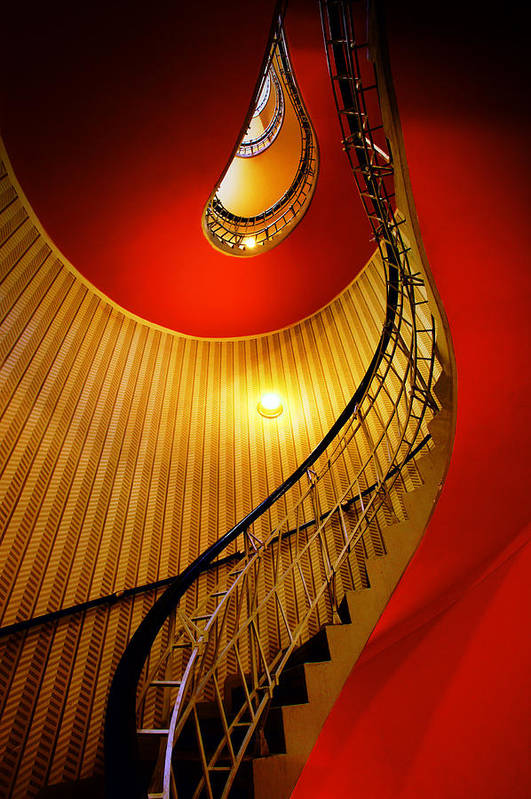 Staircase Print featuring the photograph Four Flights by John Galbo
