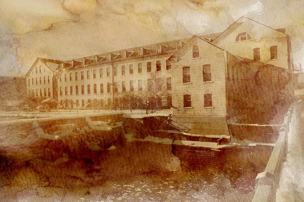 Fox River Mills Print featuring the photograph Fox River Mills by Joel Witmeyer