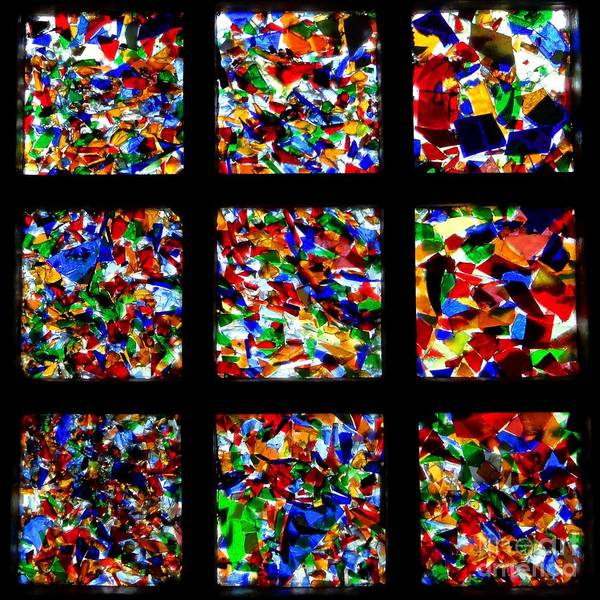 Square Print featuring the photograph Fractured Squares by Meandering Photography