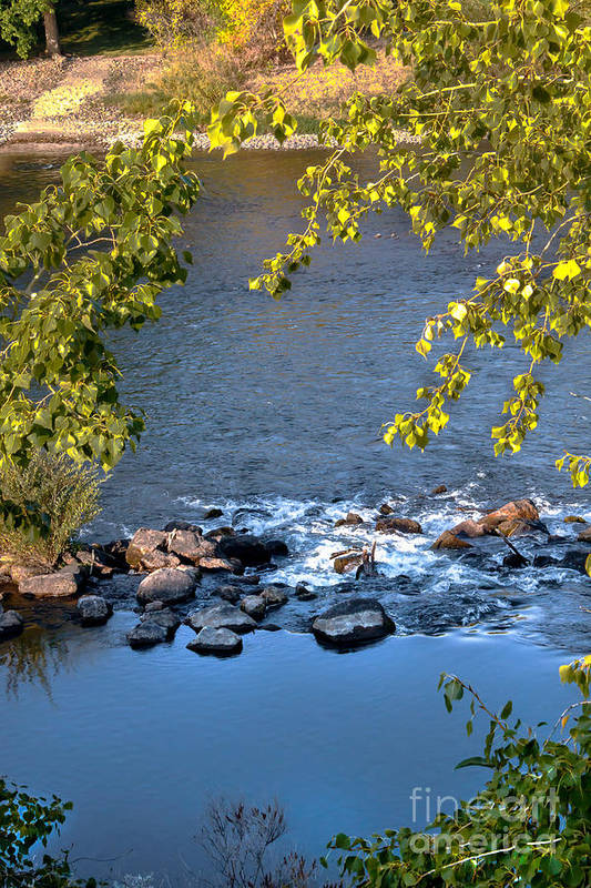 Idaho Print featuring the photograph Framed Rapids by Robert Bales
