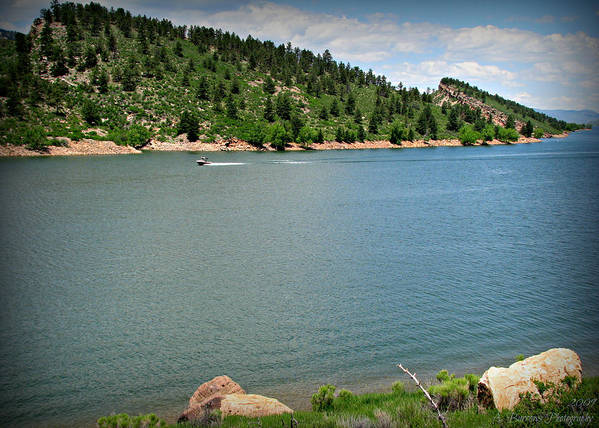 Horsetooth Reservoir Print featuring the photograph Fun At The Lake by Aaron Burrows