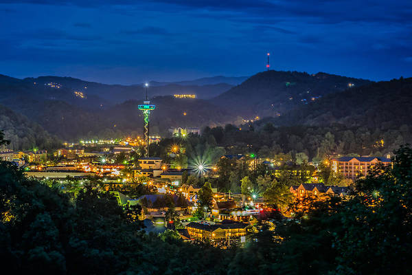 Mountains Print featuring the photograph Gatlinburg And The Smokey Mountains by Brian Young