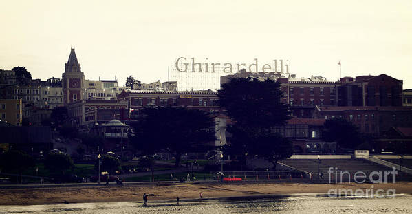 Ghirardelli Print featuring the photograph Ghirardelli Square by Linda Woods